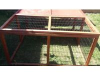 Pet Cage with Full Thermal Cover and Equipment Plus Folding Run With Shelter/ Cage reroofed