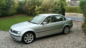 BMW 318i 4dr only 43844 miles titanium silver