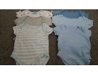 baby boy clothes bundle 0-3months 60pcs + 9 hats