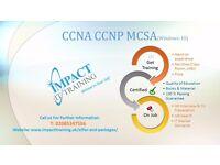 CCNA (R&S), Comptia A+, MCSA Windows-10