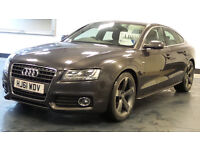 2011 61 AUDI A5 2.0 SPORTBACK TDI S LINE 5d AUTO 141 BHP*PART EX WELCOME*FINANCE AVAILABLE*WARRANTY*