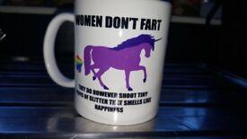 Women Don't Fart Novelty mugs