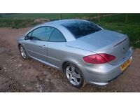 Peugeot 307 CC 2.0 HDI(136bhp) Coupe Sport Convertible/2005 /Silver