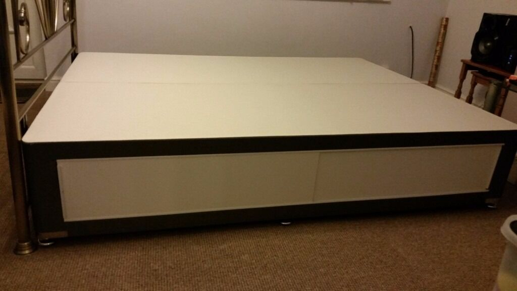 King Size Divan Bed Base Only With Or Without Headboard