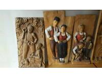 Unique Hand Carved Vintage Bulgarian Carvings