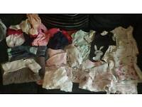 HUGE BUNDLE girls 0-3 clothes, vests outfits everything