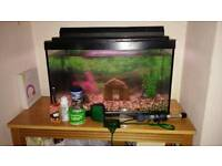 Fish tank, with pump, heater and more