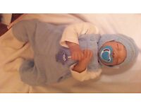 REBORN DOLL..AS NEW..BOY..INCLUDES OUTFIT,DUMMIE,AND BLANKET..WAS £375 NEW