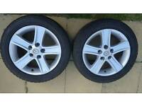"16"" mazda alloy wheels with tyres"