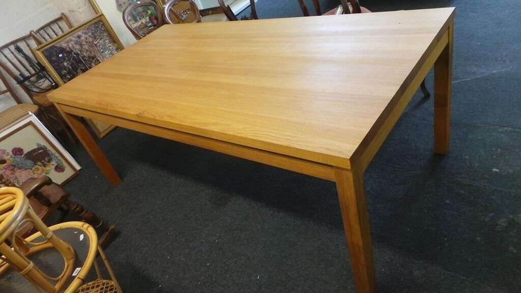 Extra Large Solid Oak Dining Table 100 Wood Very Heavy Possible Delivery
