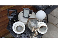 7 lights outdoor and indoor all used.............7 lights outdoor and indoor all used
