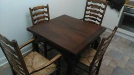 Beautiful wooden table and 4 chairs