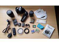 Canon EOS 350D 8.0MP Digital SLR Camera + 2 lenses
