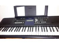 Touch sensitive Yamaha keyboard PSR E333 excellent condition.Width 945mm Height 132 mm