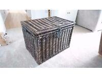 IKEA Byholma brown wicker storage chest