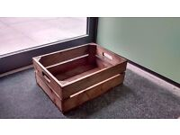 Rustic wooden apple crates for display or storage