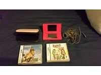 Nintendo DSi pink Console With 2 DS Games PLUS CASE