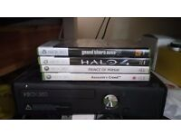 Xbox 360 Elite console and games
