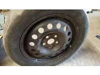 VW 215 55 16 steel wheel and tyre Skoda Audi SEAT 5x112