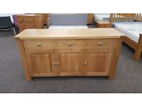 Charlton's Furniture Bretagne Solid Oak 3 Door 3 Drawer Sideboard RRP £1129 **CAN DELIVER**