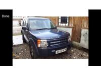 2005 05reg Land Rover Discovery 3 2.7tdv6 Blue Spares or repair
