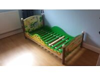 Dinosaur Hand Painted Wooden Toddler Bed