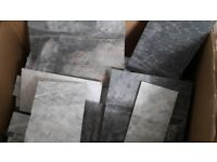 Off cuts of porcelain tiles.