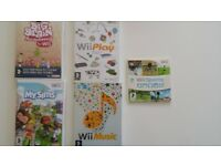 Four Nintendo Wii games
