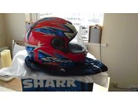 Shark fossy full face motorcycle helmet with visor (medium)
