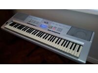 YAMAHA DGX-205 'Portable Grand' electronic KEYBOARD with stand, pedal and cover