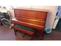 Squire Upright Piano and matching Piano Stool