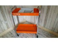 Bluepoint tool trolley and spanners