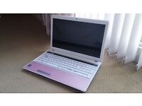 Packard Bell Pink & White Laptop Wireless ATI 320Gb AMD Dual Core Win 7 Office CAN DELIVER