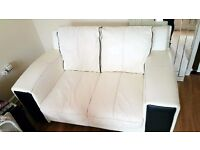 3 seater and 2seater large leather settees