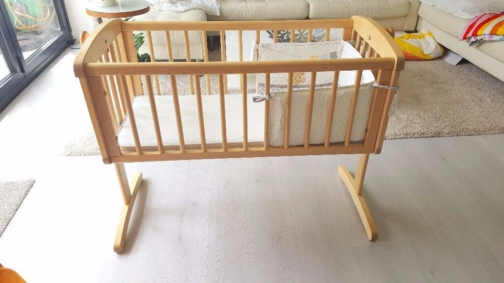 Oak Colour Rocking Cradle or Crib from Mothercare