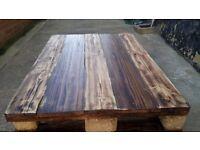 Handmade coffe table reclaimed wood rustic