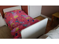 Mothercare Camberley Cot Bed White Still in Guarantee , complete with mattress