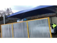 car wash screen and canopy