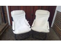 2 Garden Canvas Chairs
