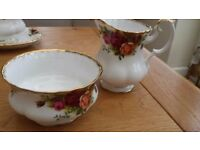 Royal Albert Old Country Roses Cream/ Milk Jug and Small Sugar Bowl
