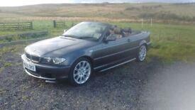 2005 BMW 330 M Sports convertible, AWESOME condition, 2 owners from new, 12 months MOT, £4450 ono.