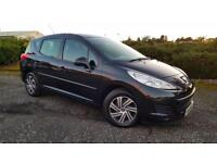 PEUGEOT 207 1.6 HDi 92 S 5dr �30 Tax 1 Yrs Mot & Fully Serviced+Warranted (black) 2009