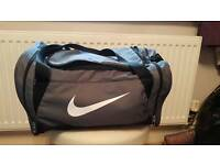 Nike Grey sports gym small holdall bag football rugby travel
