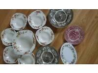 Bone China bowls plates