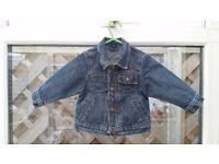 Next denim jacket and hoodie vest 6-9 months VGC