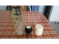 Floral thermos flask. Never been used