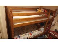 pine bunk beds