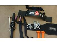 Assortment of gym accessories