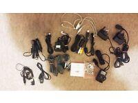 Bundle of Cables USB Adaptors Headphones Samsung Sony Ericsson LG