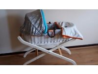 Baby K Moses basket and stand